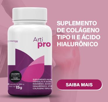 Suplemento de colageno tipo II e acido hialuronico
